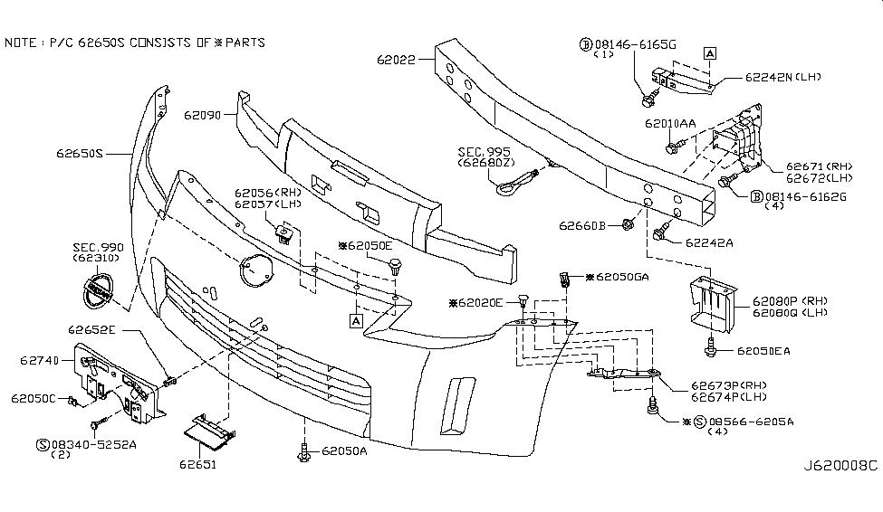 2003 Nissan 350z Body Parts Diagram