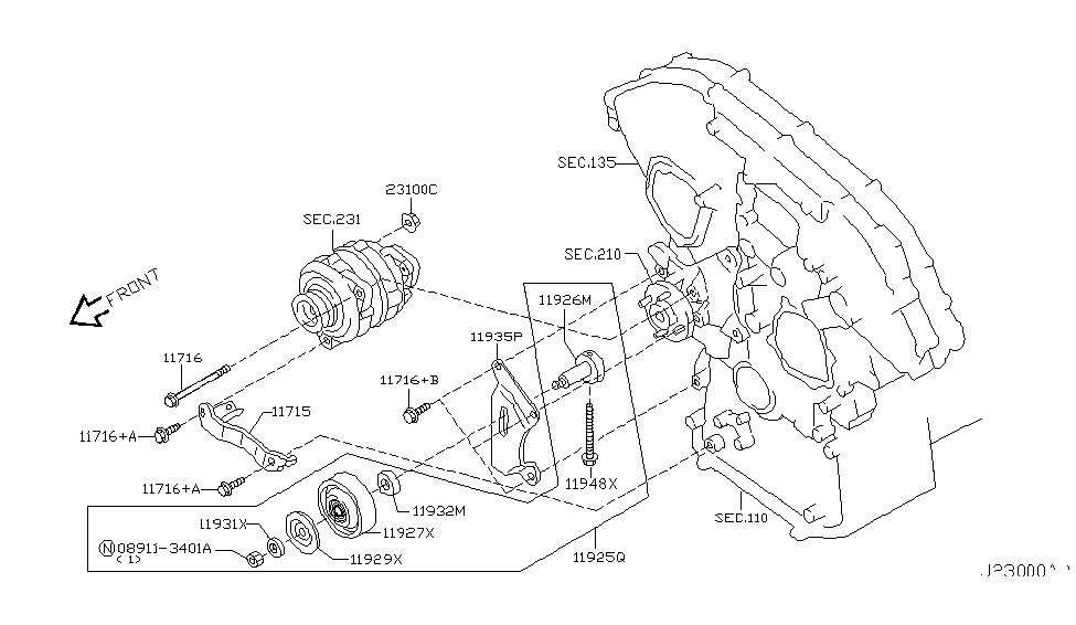 [SCHEMATICS_4CA]  2007 Nissan 350Z Alternator Fitting - Nissan Parts Deal | 03 350z Engine Electrical Parts Diagram |  | Nissan Parts