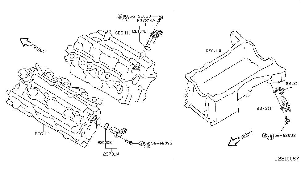 2003 Nissan 350Z Distributor & Ignition Timing Sensor