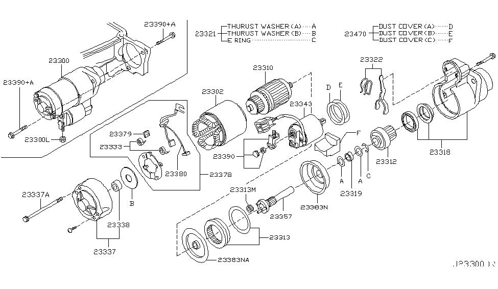 2003 nissan 350z starter motor