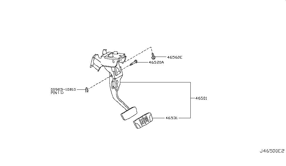 2006 Nissan 350Z Brake & Clutch Pedal - Nissan Parts Deal