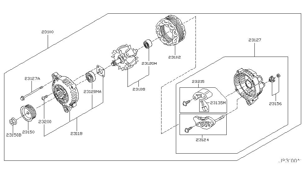 [DIAGRAM_4FR]  2003 Nissan 350Z Alternator - Nissan Parts Deal | 03 350z Engine Electrical Parts Diagram |  | Genuine Nissan Parts