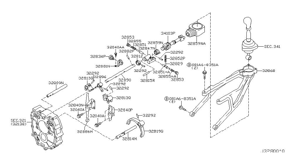2006 Nissan 350Z Transmission Shift Control - Nissan Parts Deal