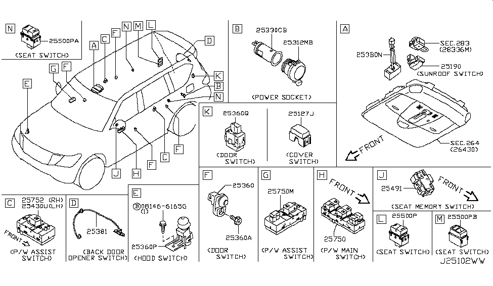 Nissan Armada Parts Diagram
