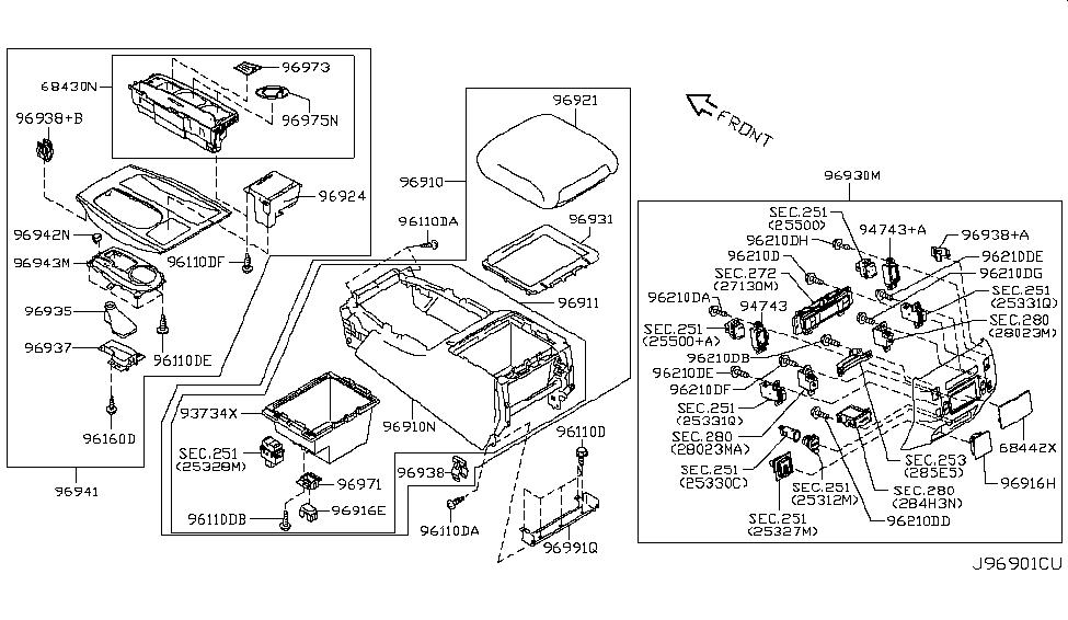 2018 Nissan Armada Console Box - Nissan Parts Deal