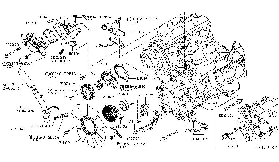 Nissan Altima Coolant Temperature Sensor