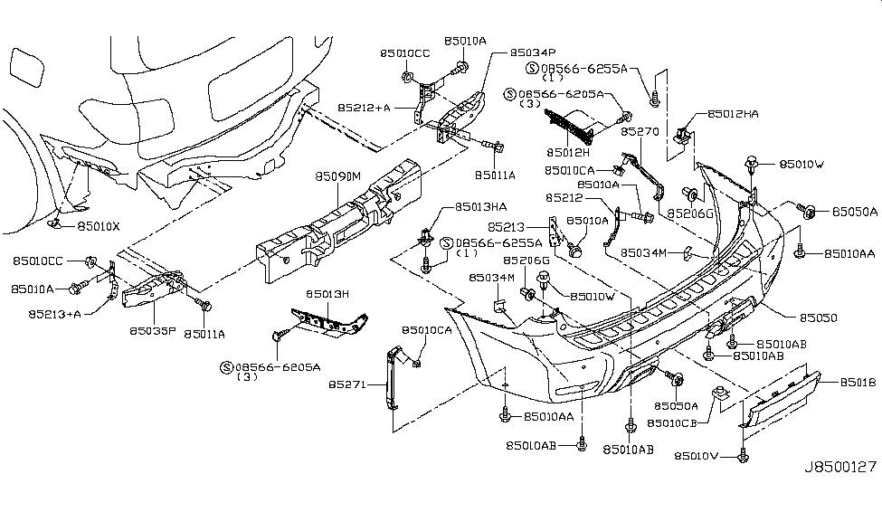 85271 1la0b Genuine Nissan Parts