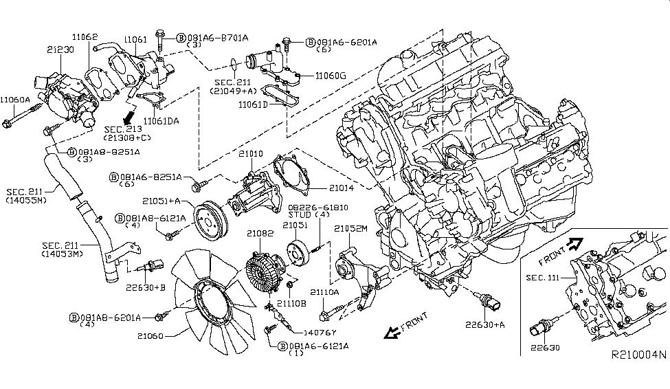 2008 NISSAN PATHFINDER ENGINE DIAGRAM - Auto Electrical ...