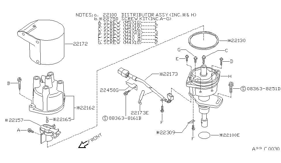 1991 Nissan 240SX Distributor & Ignition Timing Sensor