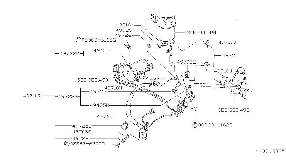 1992 nissan 240sx power steering piping