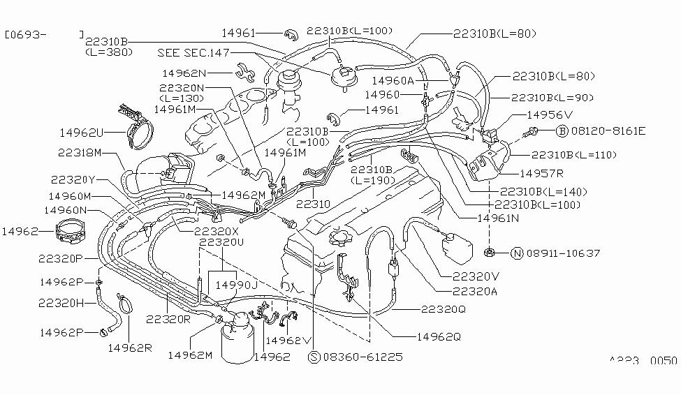 [DIAGRAM_38EU]  14875-36F00 | Genuine Nissan #1487536F00 CONNECTOR,B | 240sx Engine Diagram |  | Nissan Parts