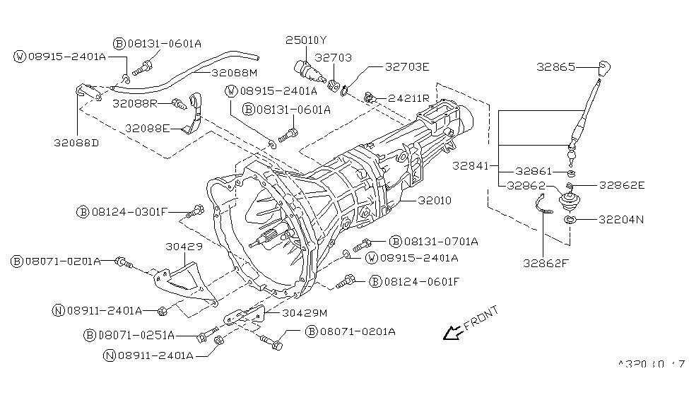 32010 40f00 genuine nissan 3201040f00 transmission assy Nissan 5 Speed Manual Transmission Diagram 1991 nissan 240sx manual transmission, transaxle \u0026 fitting