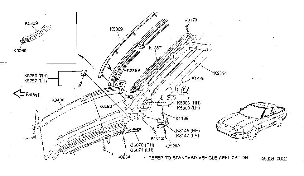 Nissan K5809-6X001