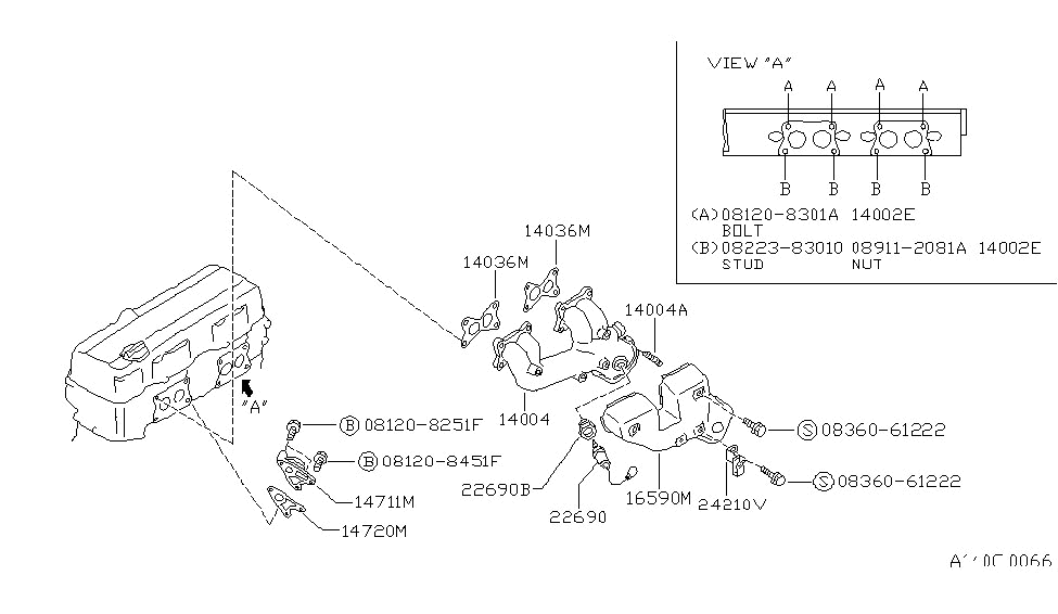 240sx exhaust diagram