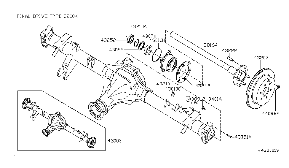 2006 Nissan Xterra Rear Axle - Nissan Parts Deal