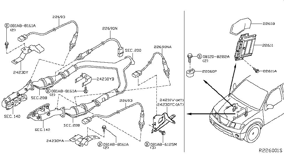 2008 nissan xterra engine control module nissan parts deal Nissan Xterra Engine Replacement
