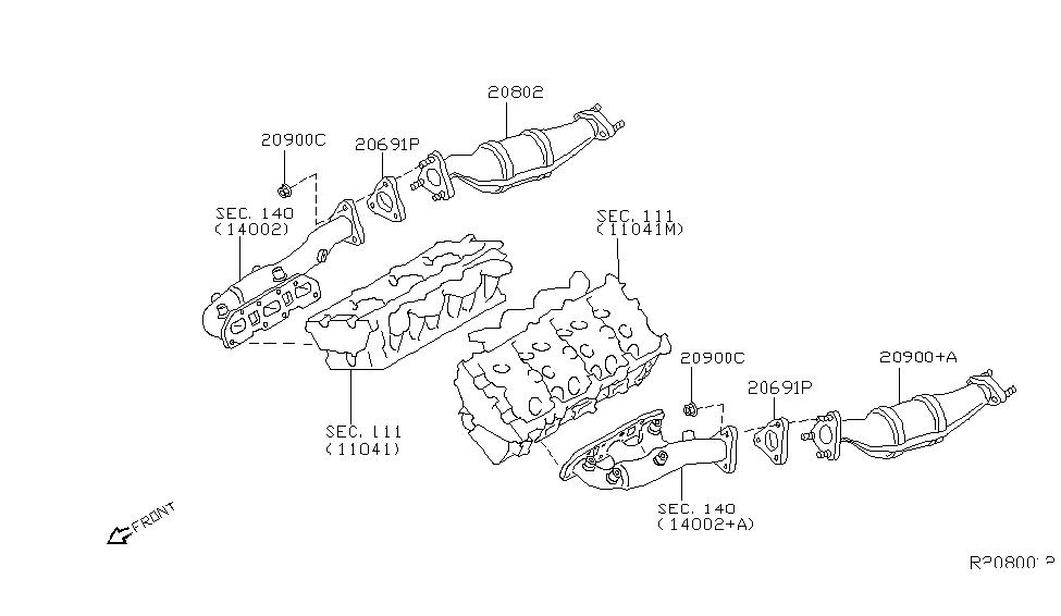 2014 nissan xterra catalyst converter,exhaust fuel & ure in