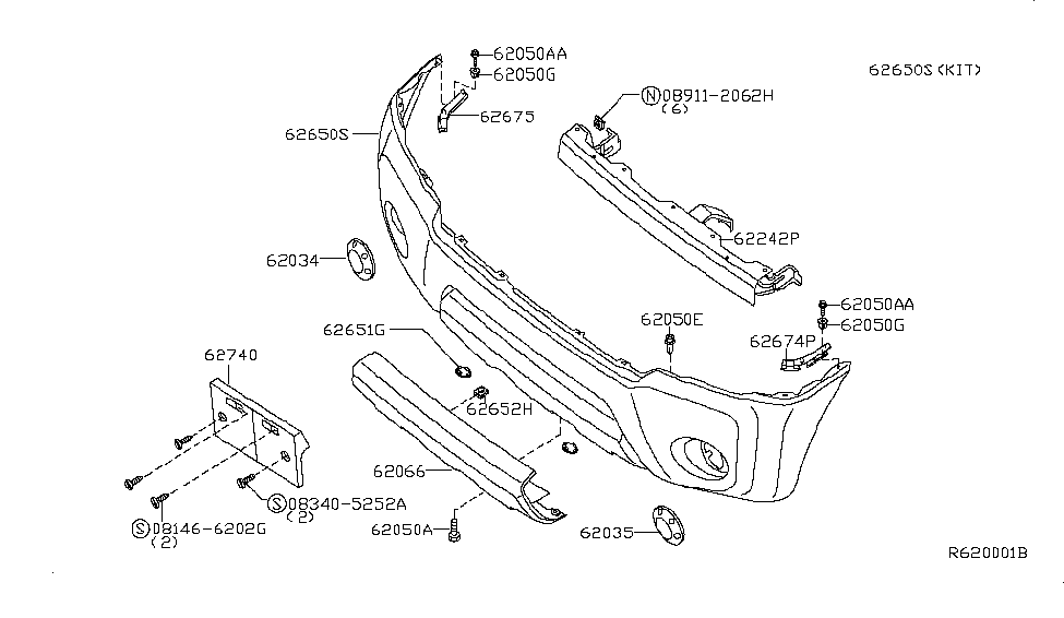 2006 Nissan Frontier Bumper Parts Diagram • Wiring Diagram