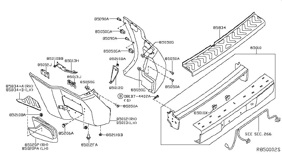 2015 Nissan Xterra Rear Bumper Nissan Parts Deal