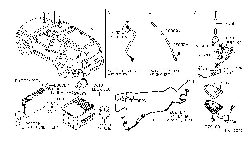 Nissan Parts Diagram Model 28185 8z500. 28185 9ha0a genuine nissan  281859ha0a deck cd. 28023 9ks0a genuine nissan 280239ks0a aux jack audio.  28185 1sx0a genuine nissan 281851sx0a deck cd. 28185 9ch0a genuine nissanA.2002-acura-tl-radio.info. All Rights Reserved.
