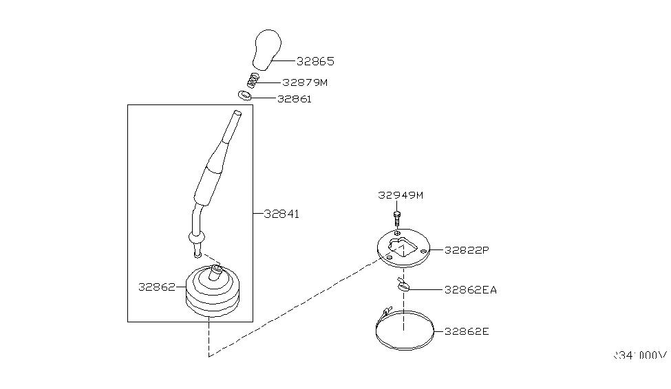 2006 Nissan Xterra Transmission Control & Linkage