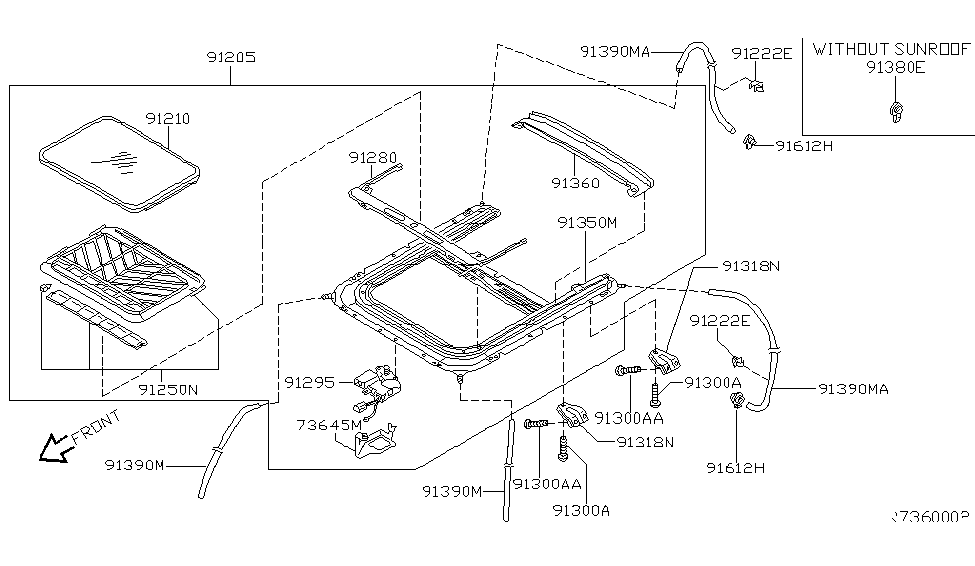 2002 Nissan Sentra Sun Roof Parts - Nissan Parts Deal