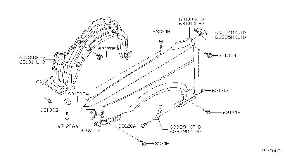 2001 Nissan Sentra Front Fender & Fitting - Nissan Parts Deal