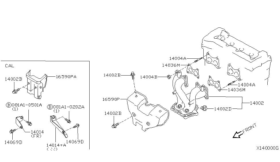Genuine Nissan Exhaust Manifold Cover Heat Shield 16590-8J005