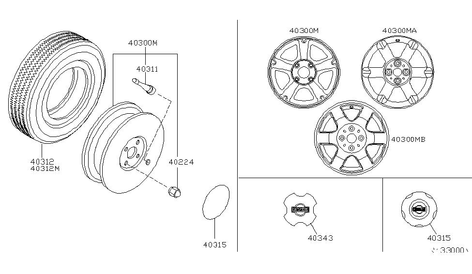 40300 4z100 Genuine Nissan 403004z100 Aluminum Wheel