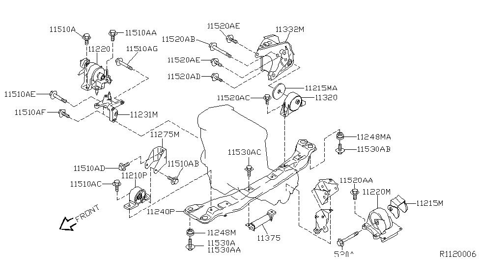 2002 nissan sentra engine \u0026 transmission mounting 2001 Nissan Sentra Engine