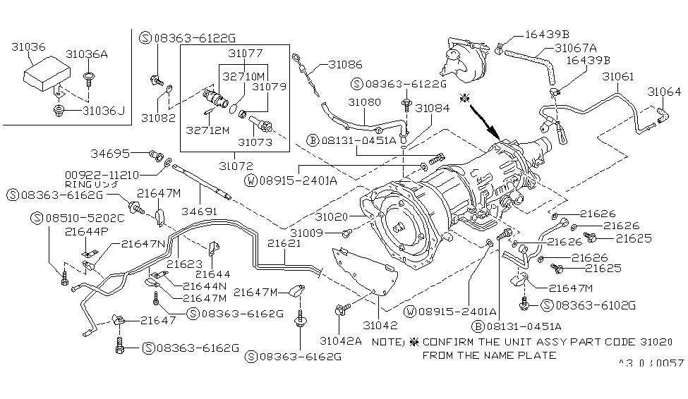 1987 nissan hardbody pickup 1986 5 1994 auto transmission rh nissanpartsdeal com nissan d21 automatic transmission diagram Nissan D21 Transmission Diagram Modulator