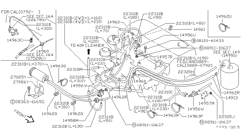 1991 Nissan Hard Pickup (D21) Engine Control Vacuum Piping on 1991 nissan maxima wiring diagram, 1991 nissan pickup engine diagram, 1991 nissan hardbody alternator diagram,