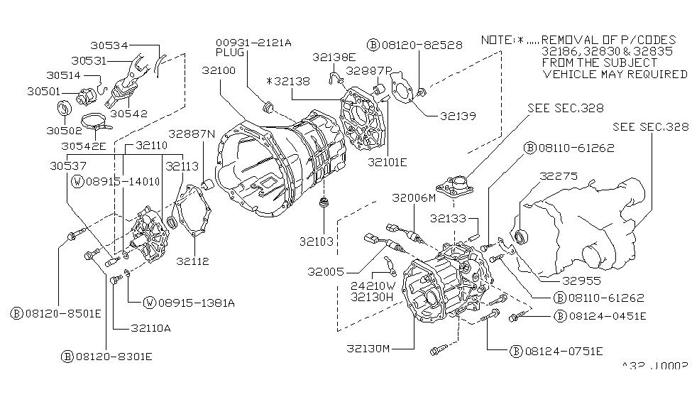 32006-31G00 | Genuine Nissan #32006-31G00 NEUTRAL SWITCH