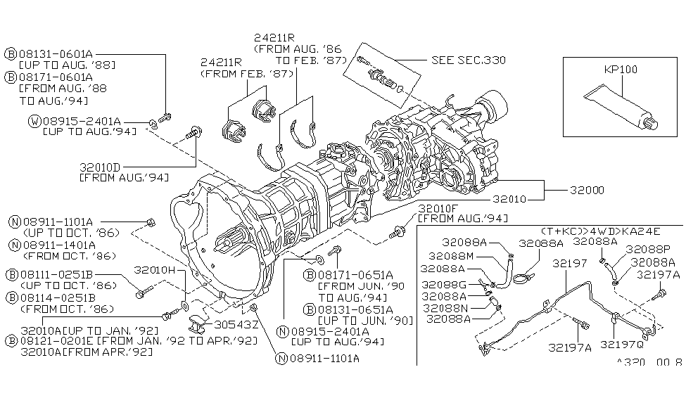 Nissan D21 Transmission Diagram