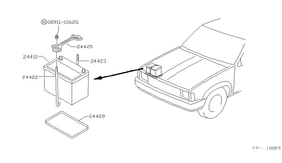 1986 Nissan Hard Pickup (D21) Battery & Battery Mounting on 1986 nissan pickup frame, 1996 nissan pickup wiring diagram, 1993 nissan pickup wiring diagram, 1986 nissan d21 pickup truck, nissan pathfinder wiring diagram, 1986 nissan pickup no spark, 86 nissan pickup wiring diagram, 1986 nissan pickup fuel system, 97 nissan pickup wiring diagram, 1991 nissan pickup wiring diagram, 1995 nissan pickup wiring diagram, 1986 nissan pickup parts, 1994 nissan pickup wiring diagram, 1986 nissan pickup exhaust, 1986 nissan pickup 4x4, 1987 nissan pickup wiring diagram, 1986 nissan pickup engine, 1990 nissan pickup wiring diagram, 1997 nissan radio wiring diagram, 1985 nissan pickup wiring diagram,