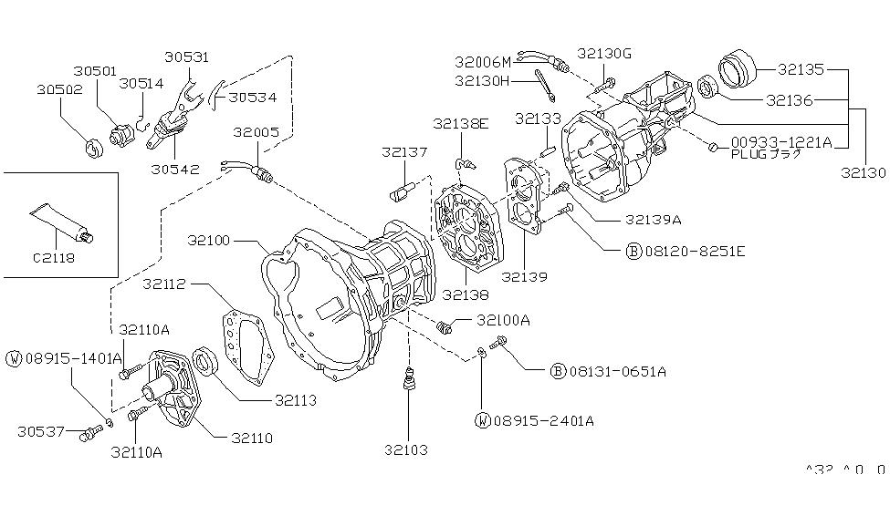 nissan sentra transmission diagram 08131-0651a | genuine nissan #081310651a bolt 1984 nissan pickup transmission diagram #15
