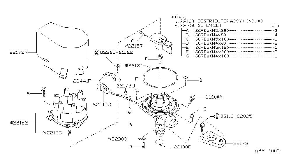 1993 Nissan Hardbody Pickup (D21) Distributor & Ignition