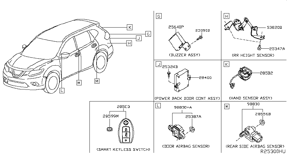Nissan 285B2-4BA0A on 2015 nissan rogue engine diagram, 2015 nissan altima wiring diagram, 2015 nissan rogue door panel removal,