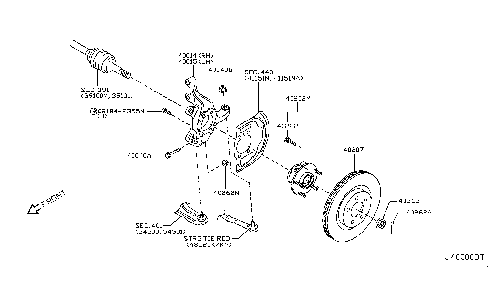 2008 Nissan Rogue Front Axle - Nissan Parts Deal