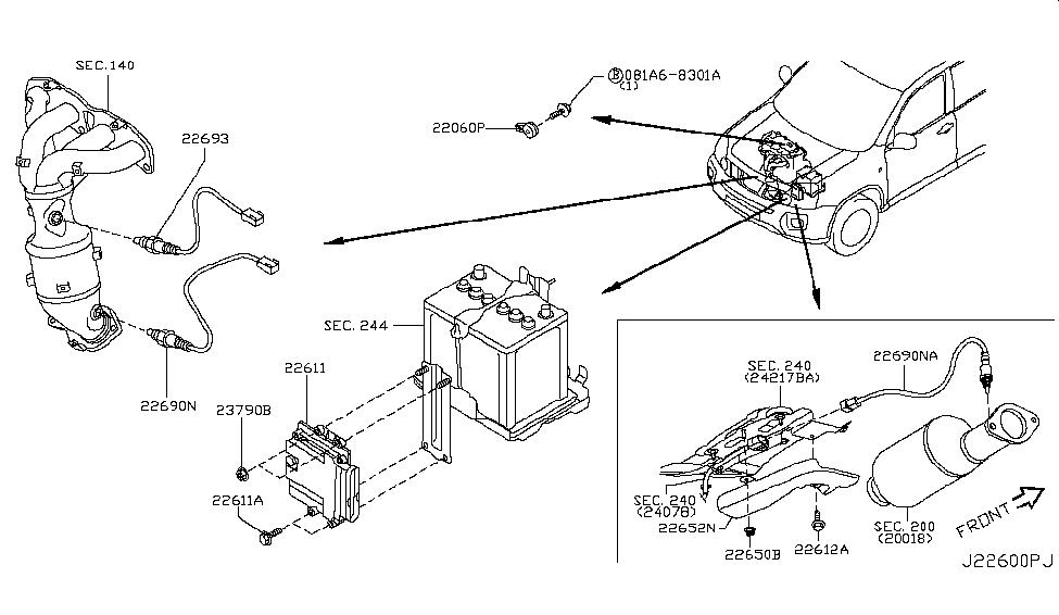 2012 Nissan Rogue Engine Control Module - Nissan Parts Deal