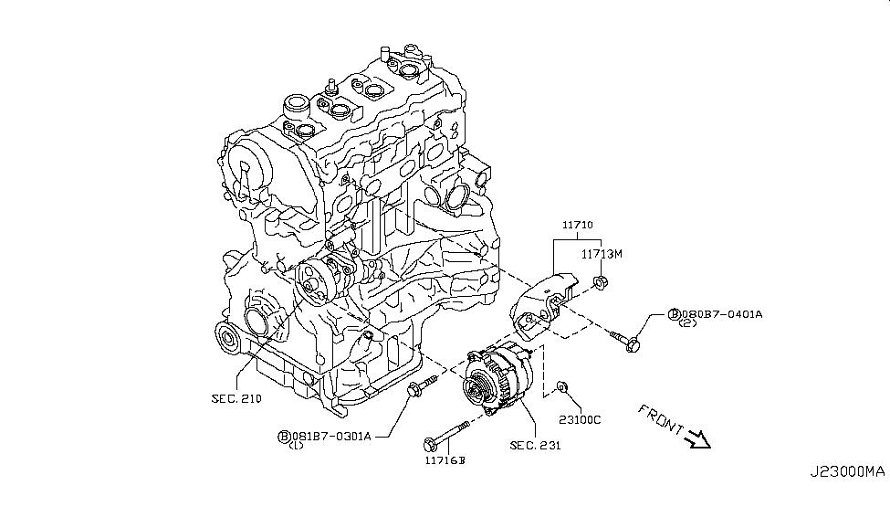2013 Nissan Rogue Alternator ~ Perfect Nissan