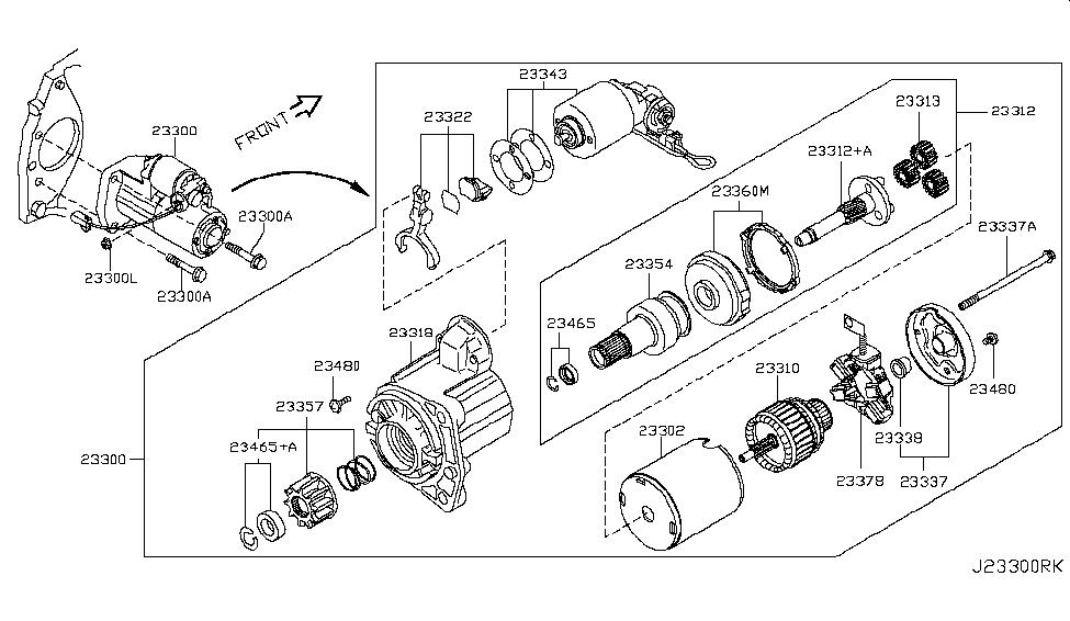 2011 Nissan Rogue Starter Motor