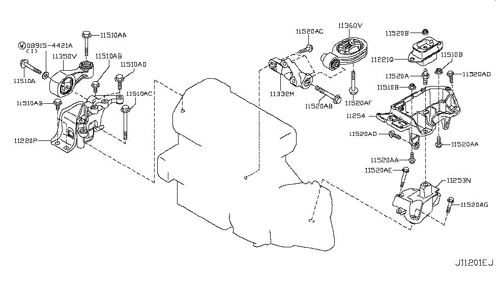 11210 1kc0c genuine nissan parts rh nissanpartsdeal com 2011 nissan juke engine diagram 2005 Nissan Pathfinder Engine Diagram