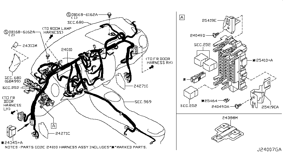 2011 nissan juke wiring nissan parts deal 2016 nissan juke fuse box diagram nissan juke wiring harness 2407b