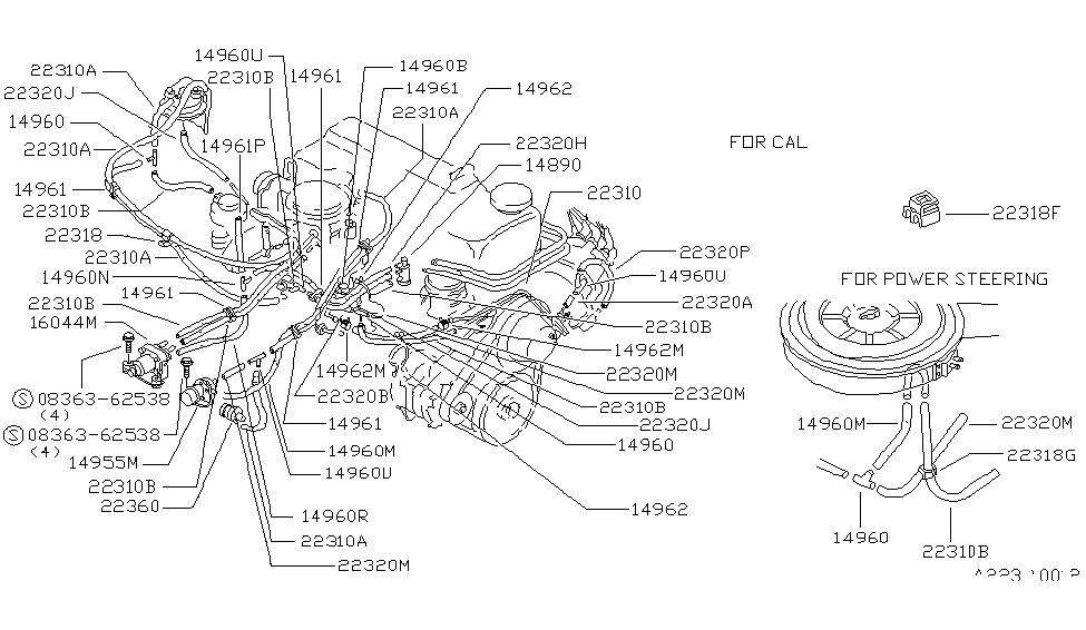 nissan 14920 w8800 1986 Ford Ranger Engine Diagram