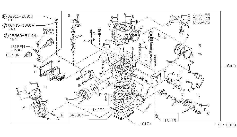 1981 Nissan 720 Pickup Carburetor - Nissan Parts Deal