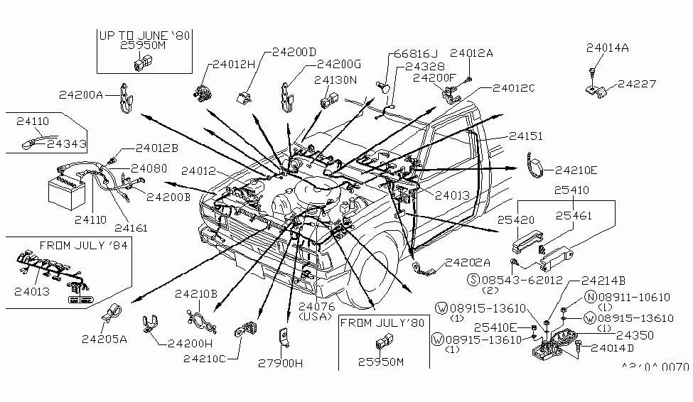 1985 nissan 720 pickup wiring nissan parts deal rh nissanpartsdeal com Nissan 720 Alternator Wiring Diagram Nissan Pathfinder Wiring Diagram