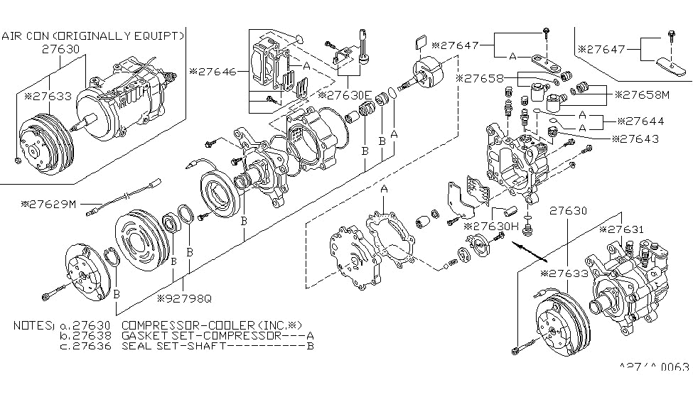 1984 Nissan 720 Pickup Compressor - Nissan Parts Deal