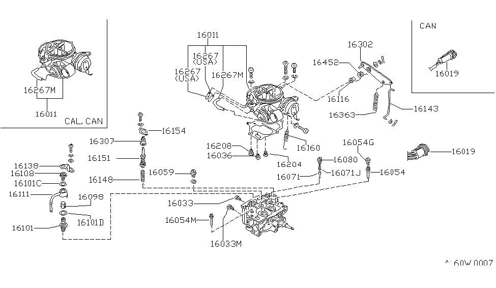 1984 Nissan 720 Pickup Carburetor - Nissan Parts Deal