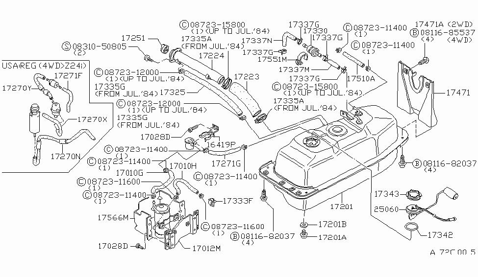 1985 Nissan 720 Pickup Fuel Tank - Nissan Parts Deal